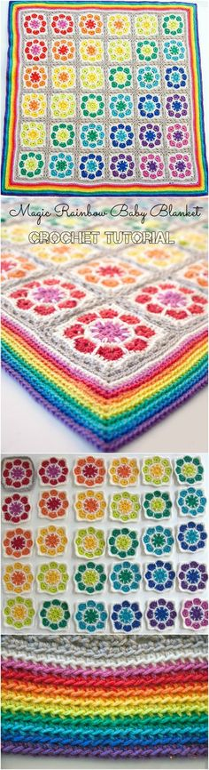 Magic Rainbow Baby Blanket