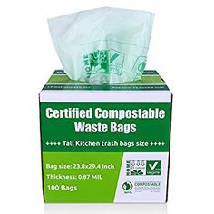 Compost Bags Small Kitchen Trash Bags, Certified by BPI and TUV Ways To Recycle, Reuse, Compost Bags, Yard Waste, Biodegradable Products, Make It Simple, The 100, Projects To Try, Scrap