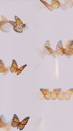 Iphone Wallpaper Tumblr Aesthetic, Aesthetic Pastel Wallpaper, Aesthetic Wallpapers, Butterfly Wallpaper Iphone, Iphone Background Wallpaper, Iphone Wallpaper Glitter, Phone Backgrounds, Trippy Wallpaper, Retro Wallpaper