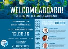 We work hard to bring the voice of sailors to ocean conservation. Every two years we celebrate this work at our Welcome Aboard Gala and raise funds to help support our programs for the next two years. Join us and our honorees for a spectacular evening! Special thanks to Christie's our host! https://www.501auctions.com/sailorsforthesea
