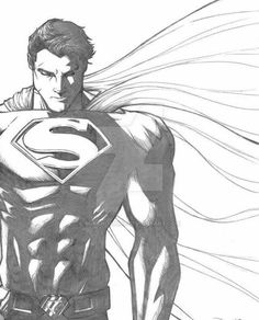 Image about superman in Man of STEEL by EndlessMind Comic Superman, Marvel Dc Comics, Steampunk Disney Princesses, Comic Books Art, Comic Art, Superman Drawing, Cartoon Sketches, Superhero Sketches, Cartoon Cartoon