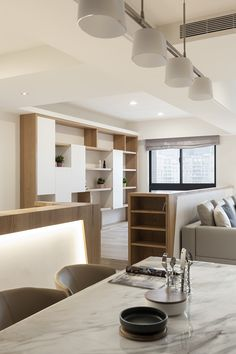 YAN DESIGN   FU-YU on Behance Interior Design Themes, Office Interior Design, Interior Styling, Living Room Modern, Living Room Interior, Living Room Designs, Japan Interior, Study Room Design, Contemporary Design