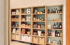 Pantry or basement shelving Kitchen Interior, Shelves, Small Kitchen Storage, Kitchen Decor, Open Pantry, Pantry Wall, Kitchen Bar Table, Kitchen Shelves, Kitchen Pantry Cabinet Ikea