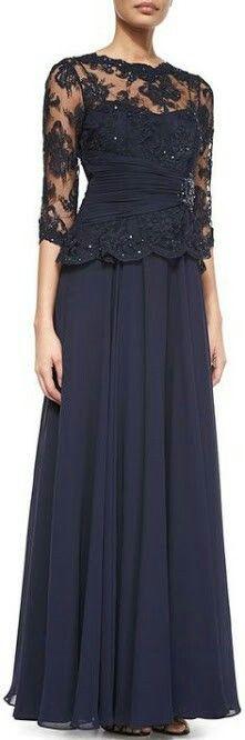 Rickie Freeman for Teri Jon Lace Chiffon Peplum Gown mother of the bride dress