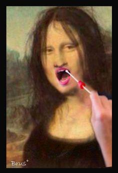 Brus© Mona Lisa, Famous Women, Walls, Paper, Artwork, Image, Beautiful, Art, Corona