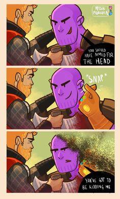 - Infinity War – Oh snap! Infinity War – Oh snap! Funny Marvel Memes, Marvel Jokes, Dc Memes, Avengers Memes, Marvel Dc Comics, Marvel Heroes, Funny Comics, Marvel Avengers, Loki