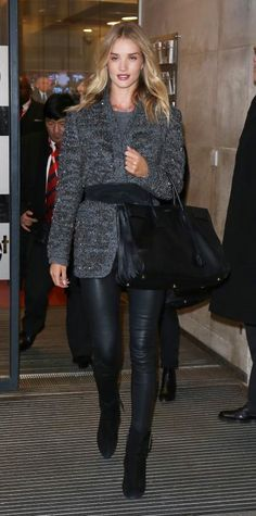 Look of the Day - January 30, 2015 - Rosie Huntington-Whiteley from #InStyle