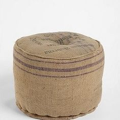 recycled coffee bean bag ottomans
