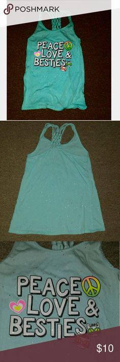 Kids sparkly top Like new Glitter throughout Justice Shirts & Tops Tank Tops