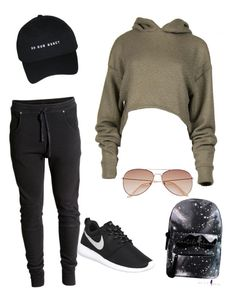 My First Polyvore Outfit by veronikavavrova on Polyvore featuring polyvore fashion style NIKE H&M clothing