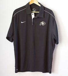 University-of-Colorado-Boulder-Buffalo-Polo-Shirt-Nike-DriFit-Mesh-NCAA