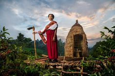 Steve McCurry, The Earth Defenders 2015 Lavazza Calendar-Asnakech Thomas - The sentinel guarding the plantations Etiopia