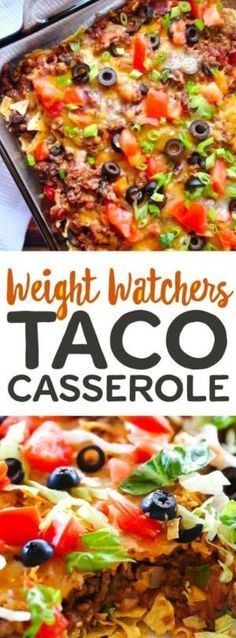 Weight Watchers Casserole Recipes with SmartPoints - Easy WW Freestyle. Are you looking for great Weight Watchers Casserole Recipes with SmartPoints? I have a collection of easy WW Freestyle meals for you to cook for your family. Ww Recipes, Skinny Recipes, Low Calorie Recipes, Mexican Food Recipes, Cooking Recipes, Cooking Time, Recipies, Healthy Taco Recipes, Potato Recipes