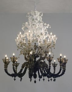 Tie dyed chandelier