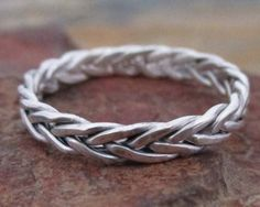 Sterling Silver Braided Ring 3mm - 5 Strand Braided Ring, Celtic Knot Ring, Handmade Ring, Mens Wedding Band, Silver Band Ring, Womens Ring on Etsy, $39.99