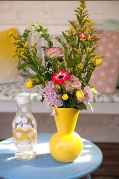"This lovely yellow vase is from our feature ""Pretty Perky"""