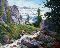 """Splendour of Yoho..finished painting!  40""""X50"""" oil on canvas.  Available for sale from www.capriceartstudio.com .  Free shipping in Canada & no tax."""