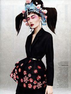 Shu Pei by Jason Kibbler for Vogue Russia April 2013