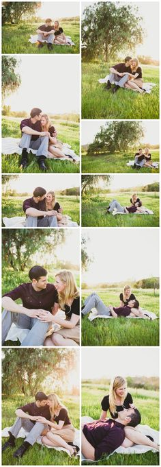 Picnic engagement photos by Aga Photography