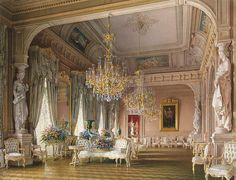 winter palace st petersburg interior -The White Drawing Room, The Winter Palace, St Petersburg - Diy Interior Design Classic Interior, Diy Interior, Interior And Exterior, Interior Design, Interior Sketch, Interior Plants, Cafe Interior, Room Interior, Beautiful Architecture
