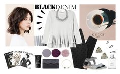 """Black Denim"" by maddiemcc ❤ liked on Polyvore featuring Prada, Rebecca Taylor, Frye, Smith & Cult, Kendra Scott, Stella & Dot, BCBGMAXAZRIA, Assouline Publishing, NARS Cosmetics and Old Navy"