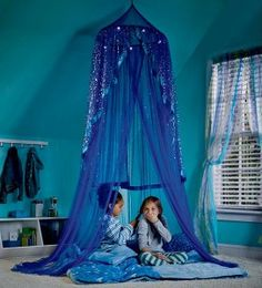 indoor fort for the girls #kids