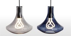 Plume, suspension et ampoule plumen, gris fumé | made.com