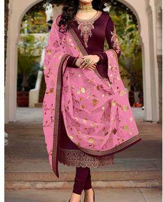 Latest Punjabi Suits Design, Latest Suit Design, Dress Indian Style, Indian Dresses, Indian Outfits, Indian Wear Rajasthani Dress, Rajputi Dress, Jaipur, Color Combinations, Sari, Suits, Model, Dress Ideas, Dresses #suitdesign #colourcombination #punjabisuits #punjabisuit #contrastcolour #colorcombination Colours Combination Ideas Suits Kurti Dress New Colour Combination For Punjabi Suits Fashion Trends contrast colour combination for lehenga,peach colour combination dresses Indian Designer Suits, Latest Punjabi Suits Design, Punjabi Suits Designer Boutique, Beautiful Color Combinations, Churidar, Kimono Top, Jaipur, Lehenga, Pink Color