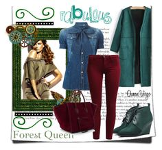 """Forrest Queen"" by queenvirgo on Polyvore featuring Zephyr, Dsquared2 and Sisley"