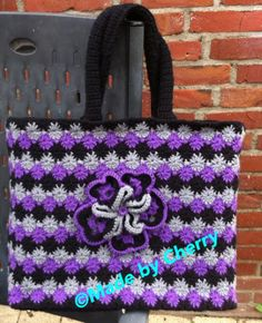 Crochet wheelstitch bag