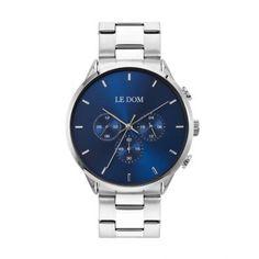 Ανδρικό ρολόι LE DOM LD.1436-2 Principal με μπλε καντράν, διπλή ώρα, 24ωρη ένδειξη, με μπρασελέ | Ανδρικά ρολόγια Le Dom ΤΣΑΛΔΑΡΗΣ στο Χαλάνδρι #LeDom #Principal #ρολοι #tsaldaris Smart Watch, Samsung, Watches, Smartwatch, Clocks, Sam Son, Clock