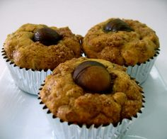 Chestnuts with every bite! This muffin recipe reminds of Japanese bake goods. Muffin Recipes, Japanese Style, Baked Goods, Sweet Potato, Muffins, Potatoes, Tasty, Sugar, Baking