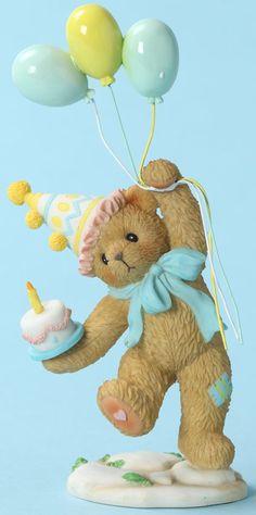 Cherished Teddies: Birthday Bear - Let the Celebration Begin