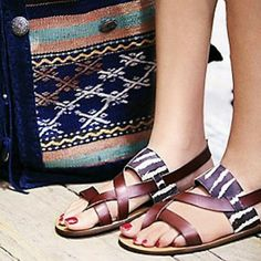 💖HOST And EDITOR Pick💖Free People Sandals Vegan sandals with animal print! Great for summer :) New and never been used...comes in original box. By Faryl Robin.  Pics from Free People :) Free People Shoes Sandals