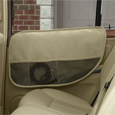 Interior Car Door Protectors -- These microsuede shields fit easily over your car's door interior to keep excited paws and drool off door upholstery, vinyl, or leather.