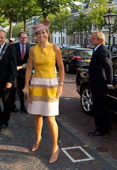 Toujours glamour, la reine Maxima des Pays-Bas est particulièrement active en cette rentrée de septembre