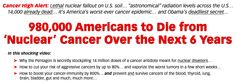 "980,000 Americans to Die from ""Nuclear"" Cancer Over the Next 6 Years…"