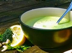 115kcal Broccoli and lemon soup Please like my fb page! https://www.facebook.com/theresourcefulvegan