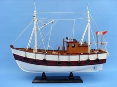 Wooden Cabin Fever Model Boat 19""