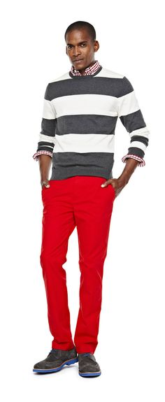jcp crewneck sweater and chinos