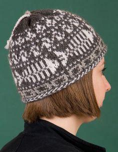 Fishbones Skull Cap - Knitting Patterns and Crochet Patterns from KnitPicks.com