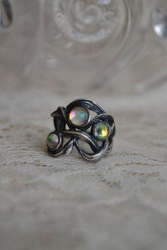 Lalique Art Nouveau Brambles Ring on Etsy, $160.00
