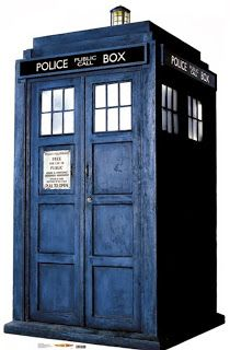 The tardis would be a good drawing to do in colour soft, you could get a really good effect