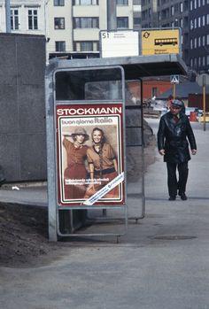 Linja-autopysäkki Siltasaarenkatu, Helsinki 70-luku - Helsingin kaupunginmuseo