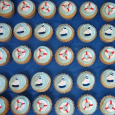 cute anchor cupcake for baby shower | nautical baby shower vanilla elegance cupcakes by miami s cupcakes ...