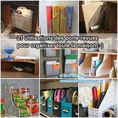 Vous avez des porte-revues à la maison ? Avec un peu d'imagination, vous allez pouvoir utiliser un porte-revue dans presque toutes les pièces de la maison !  Découvrez l'astuce ici : http://www.comment-economiser.fr/21-utilisations-porte-revues-organiser-la-maison.html?utm_content=buffer10af7&utm_medium=social&utm_source=pinterest.com&utm_campaign=buffer