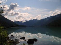 Cheakamus Lake is located near Whistler, BC, and is a short hike through Garibaldi Provincial Park to the Singing Pass campsite. Hiking Places, Hiking Trails, Ski Weekends, Mountain Illustration, Whistler, Campsite, West Coast, Wilderness, Kayaking