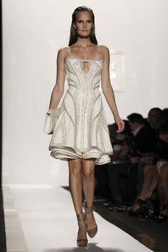 Love this for a summer all white event!   Herve Leger @ New York Womenswear S/S 2014 -