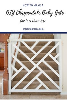 A DIY baby gate for