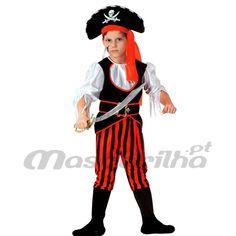 Fatos Carnaval Menino - Fatos de Piratas - MASCARILHA Fatos De Carnaval 9640420eca5
